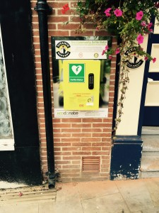 Defibrillator Installed at The Bulls Head Pub