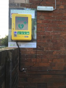 Defibrillator installed at The Eagle Inn